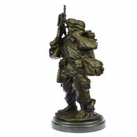 American Soldier Bronze Sculpture