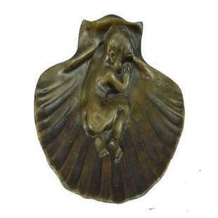 Boy Ashtray Bronze Sculpture