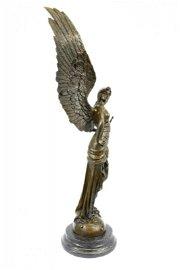 Female Knight Warrior with Sword Bronze Sculpture