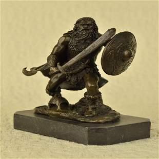 Warrior with Sword Bronze Sculpture
