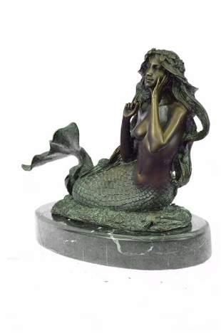 Mermaid Bronze Sculpture