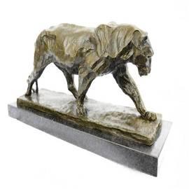 Animal Edition Lion Wildlife Bronze Statue