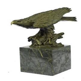 Falcon American Eagle Bronze Sculpture