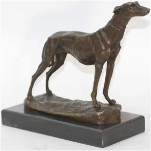 Greyhound Family Dog Bronze Sculpture