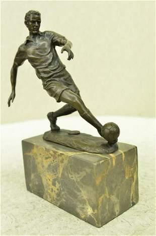 Soccer Player Bronze Figurine