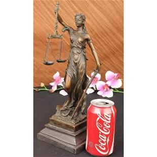 Roman Goddess of Justice, Lady Justice Bronze Sculpture