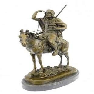 Morrocan Arab Man on Horse Hunter Statue