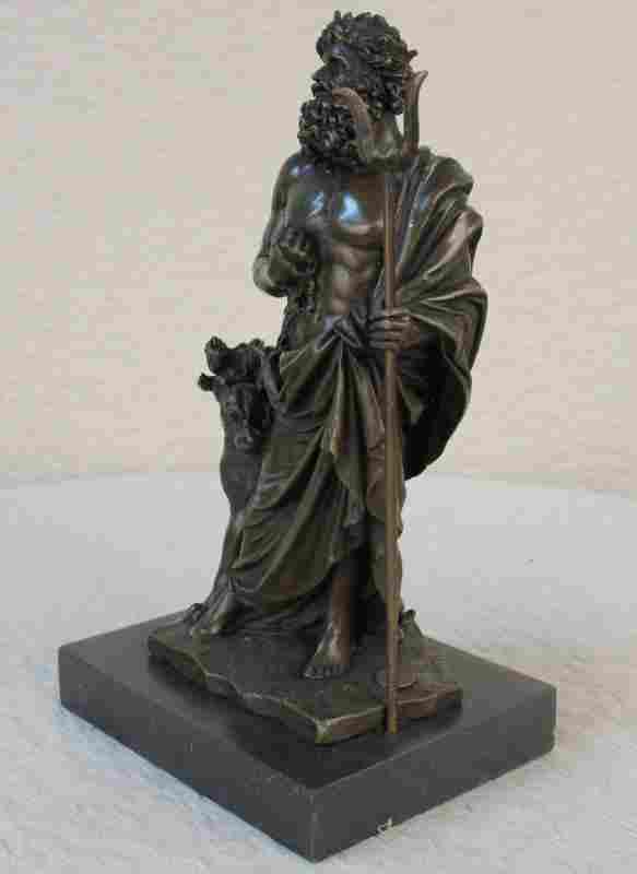 Three Headed Dog Mythical Bronze Sculpture