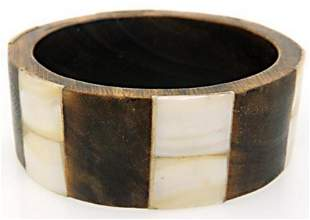 Wide wooden Bangle