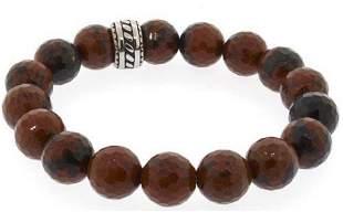 Natural Brown Gemstone Bracelet