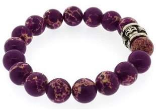 Imperial Jasper Purple Beads Bracelet