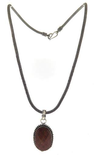 Sterling Silver Gemstone Pendant on Chain