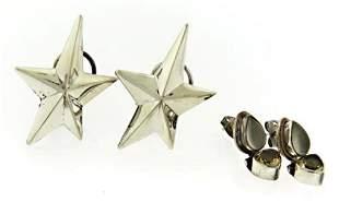 Lot of 2 Sterling Silver Earrings