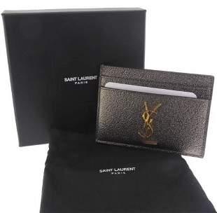 Brand New Authentic Designer YSL Card Holder