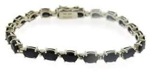 Sterling Silver Thailand Gemstone Tennis Bracelet