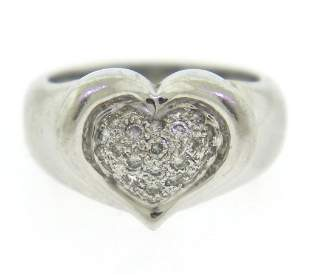 Dazzling Heart Shaped Pave Diamond Ring