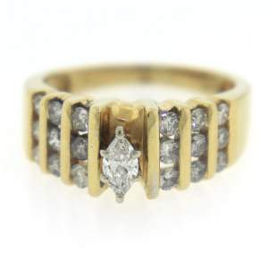 Elegant Marquise and Channel Set Diamond Ring