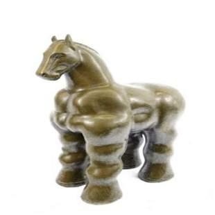 Modern Roman Horse Bronze Statue