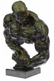 Male Athletic Sensual Bronze Statue
