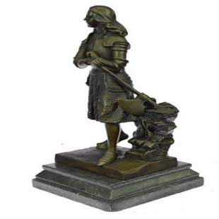 Fremiet French Bronze Sculpture on Marble base Statue