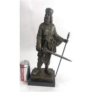 King Cyrus The Great Persian Empire Bronze Sculpture