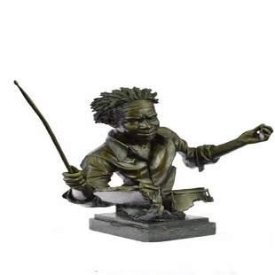 Drum Set Figurine Bronze Statue