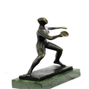 Ping Pong Sport Award Bronze Statue