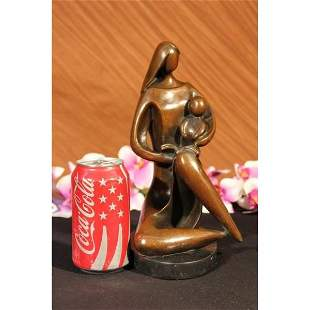 Mother Reading to her Kid Bronze Sculpture