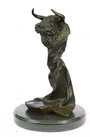 Bull Bronze Bust Sculpture