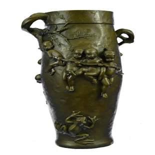 Babies Bronze Urn Statue