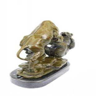 Wall Street - Bull vs. Bear Bronze Statue