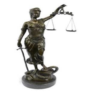 Blind Justice Lady Bronze Sculpture