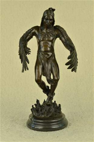 American Indian Warrior Bronze Sculpture