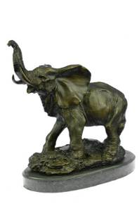 Elephant Symbol of Luck Bronze Sculpture