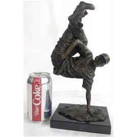 The Hip Hop Boy Dancing Bronze Statue