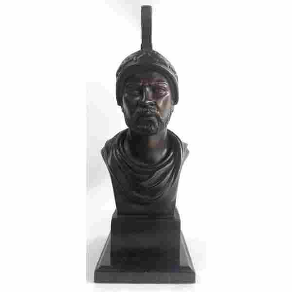 Roman Warrior Bust Bronze Sculpture