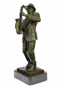 Saxophone Player Bronze Sculpture