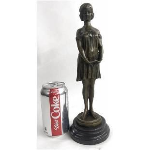 Female Classical Portrait Bronze Sculpture