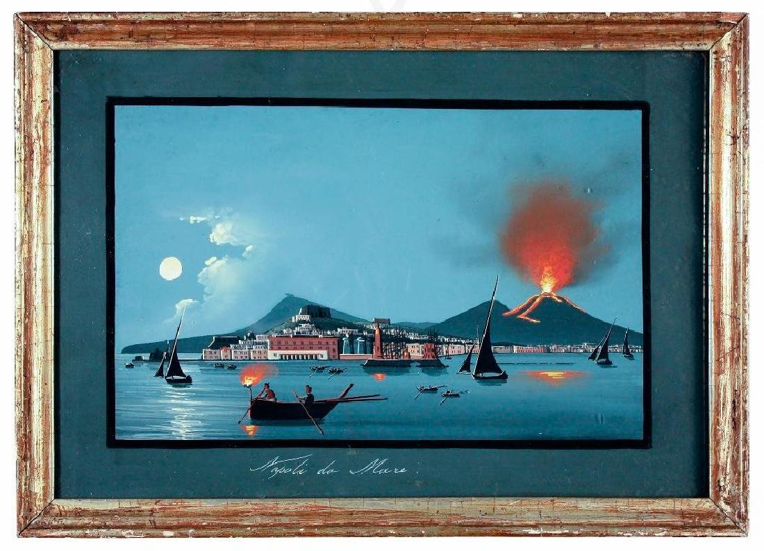 Napoli da Mare, Pair of Gouaches on Paper - 2