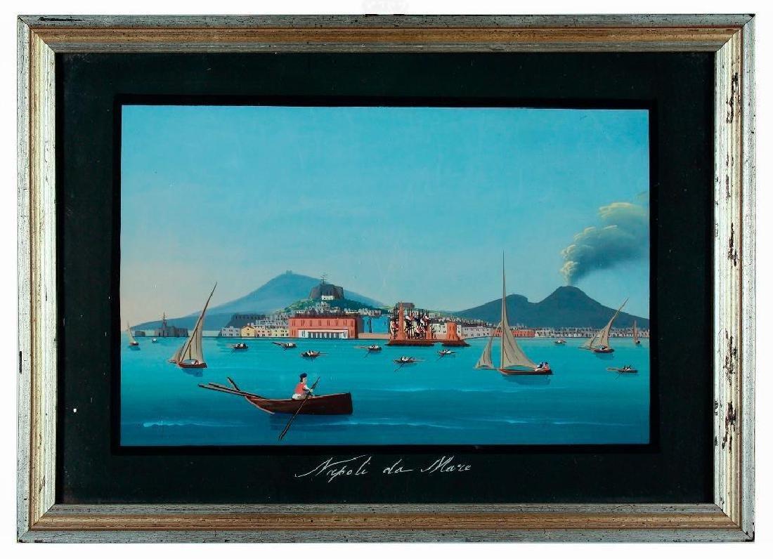 Napoli da Mare, Pair of Gouaches on Paper - 4