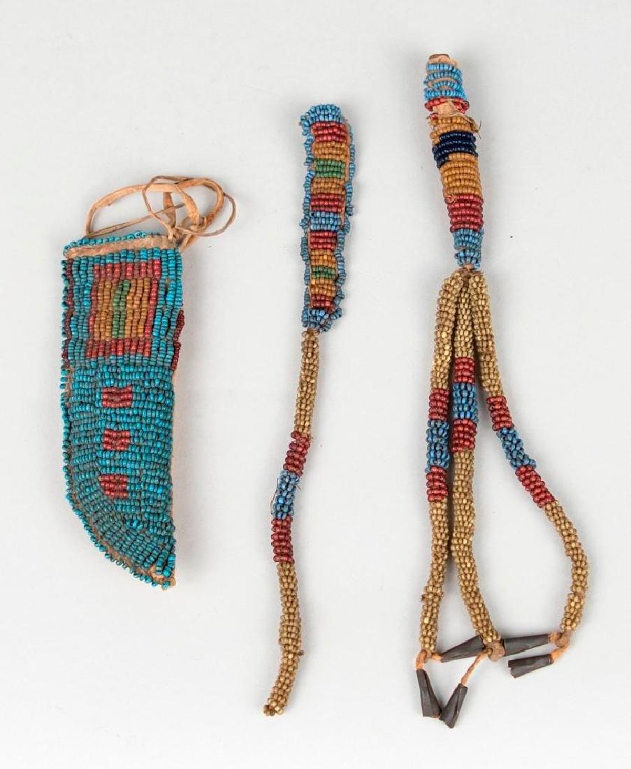 Native American Small Beaded Sheath lot