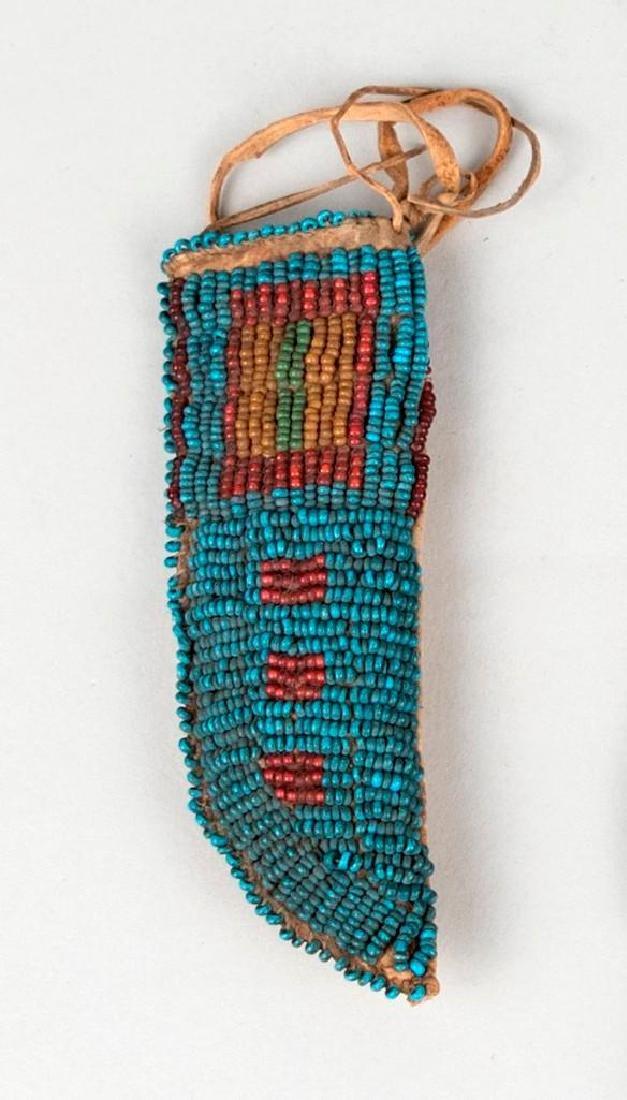 Native American Small Beaded Sheath lot - 3