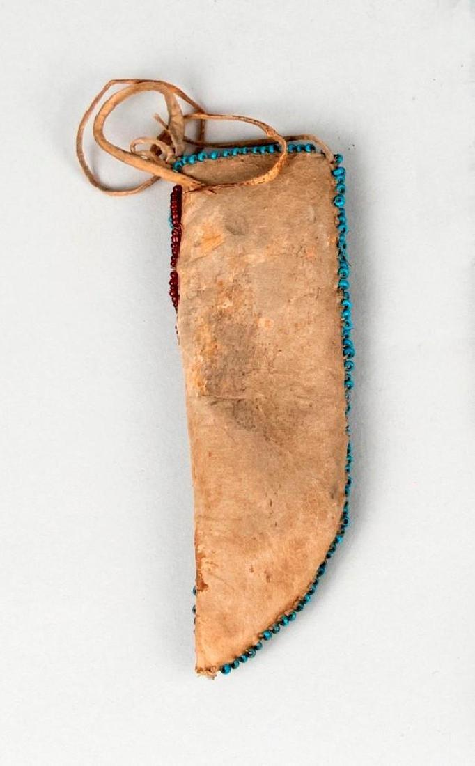 Native American Small Beaded Sheath lot - 4
