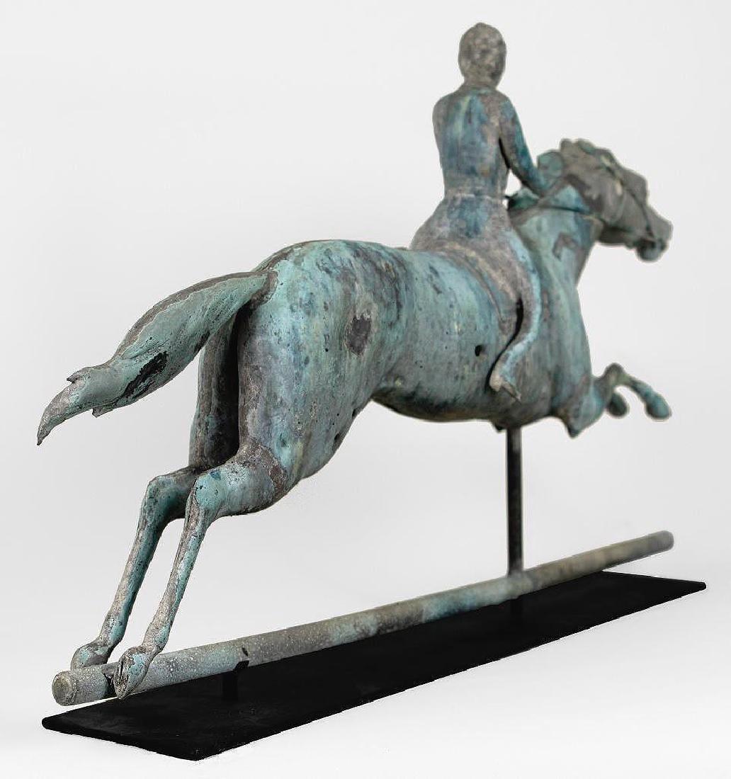 Horse and Jockey Weathervane, circa 1890 - 10