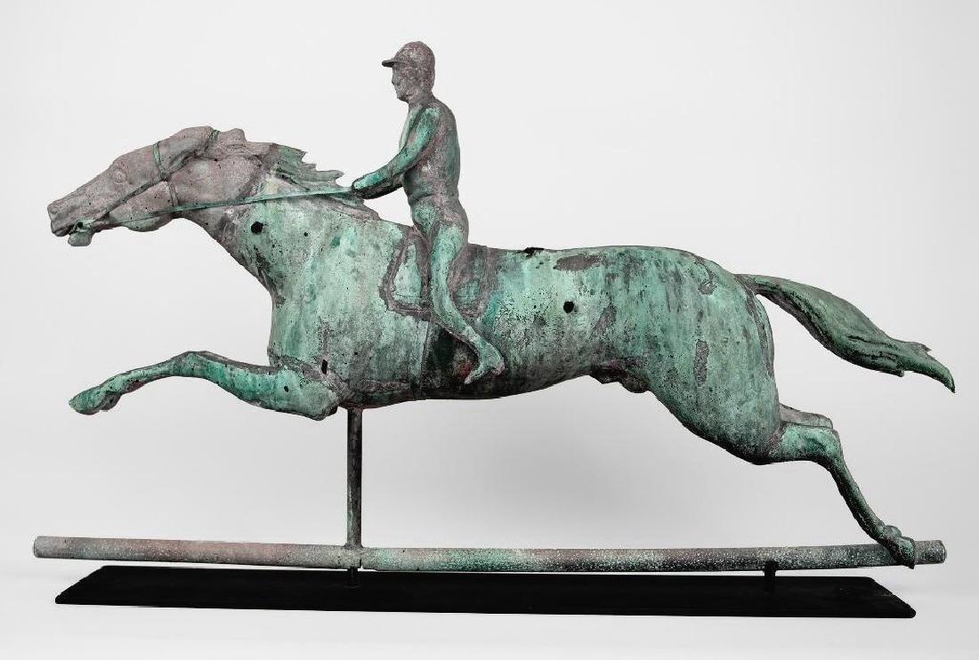 Horse and Jockey Weathervane, circa 1890