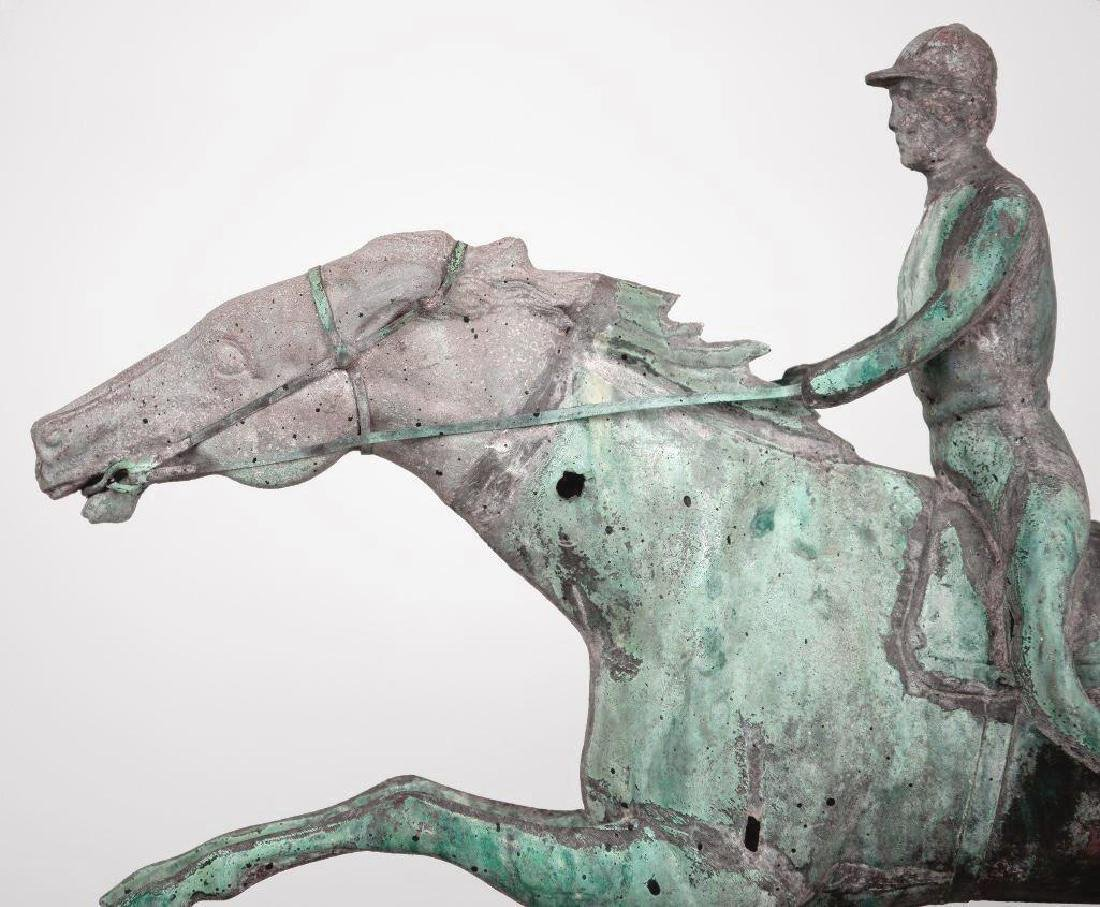 Horse and Jockey Weathervane, circa 1890 - 2