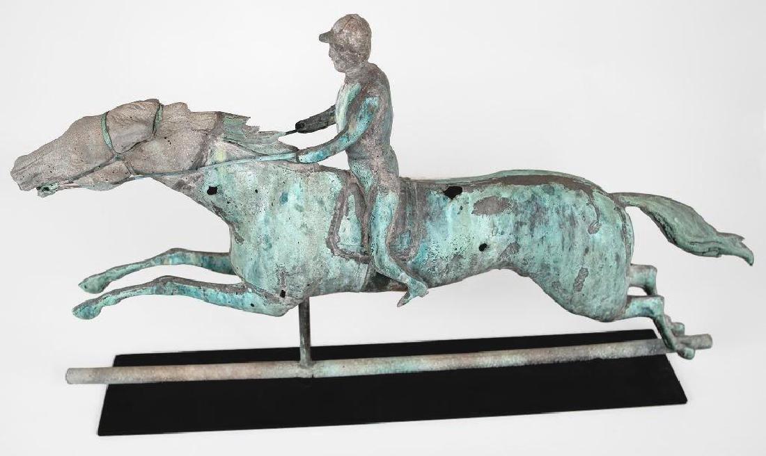 Horse and Jockey Weathervane, circa 1890 - 6