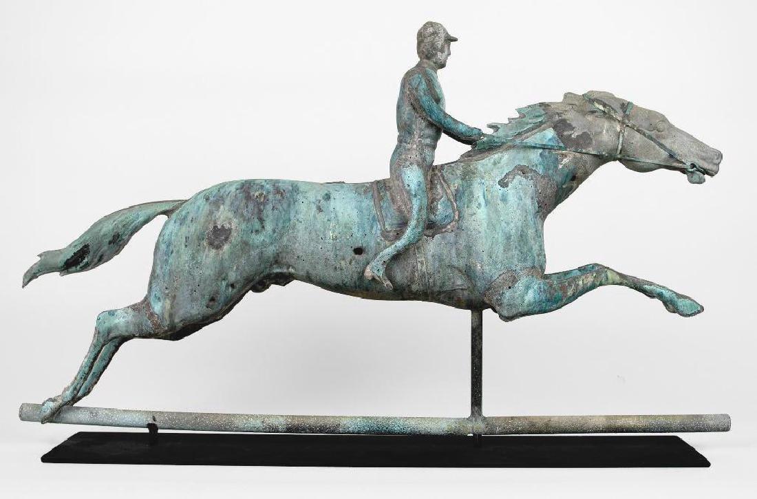 Horse and Jockey Weathervane, circa 1890 - 7