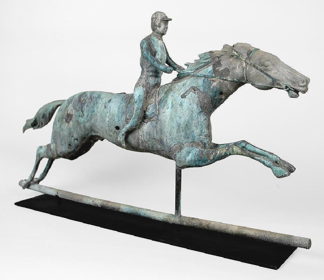 Horse and Jockey Weathervane, circa 1890 - 8