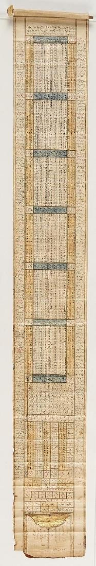 Early Middle Eastern Prayer Scroll